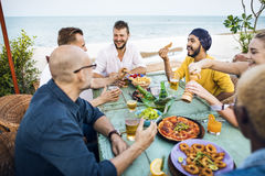 People Relaxation Beach Rest Concept Stock Image