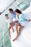 People relaxing on a boat Royalty Free Stock Photo