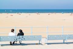 People relaxing on boulevard of seaside resort Scheveningen, Net Stock Photos