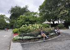 New York, 1st July: People Relaxing in Central Park in Midtown Manhattan from New York City in United States Stock Photography