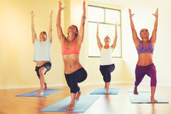 People Relaxing and Doing Yoga Stock Photography