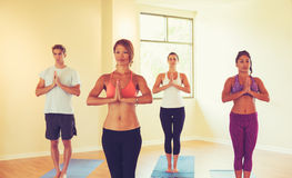 People Relaxing and Doing Yoga Royalty Free Stock Images