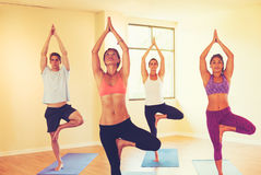 People Relaxing and Doing Yoga Royalty Free Stock Photo
