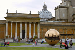 People Relaxing And Enjoying the Park Inside Vatican Museum Royalty Free Stock Image