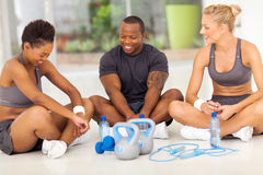 People relaxing exercise Stock Images