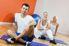 People relaxing after fitness Royalty Free Stock Images