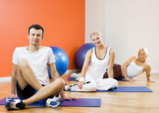 People relaxing after fitness Royalty Free Stock Photos