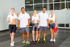 People relaxing in gym royalty free stock image