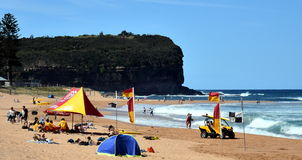People relaxing on Mona Vale beach Royalty Free Stock Images