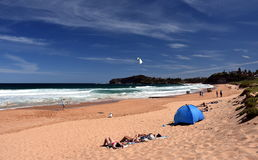 People relaxing on Mona Vale beach Royalty Free Stock Photo