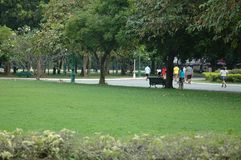 People Relaxing in the Park Royalty Free Stock Image