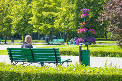 People relaxing in the Park Stock Photography