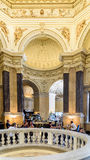People Relaxing At Restaurant Cafe Inside The Museum of Natural History Royalty Free Stock Image