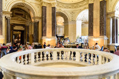 People Relaxing At Restaurant Cafe Inside The Museum of Natural History Stock Photos