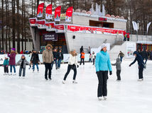 People relaxing at the skating rink Royalty Free Stock Photography