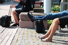 People in relaxing Royalty Free Stock Photography