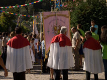 People on religious parade on Braga. Royalty Free Stock Photos
