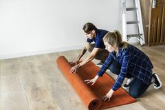 People renovating the house concept Royalty Free Stock Photos