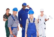 People representing diverse professions Royalty Free Stock Photos