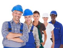 People representing diverse professions Stock Image