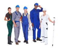 People representing diverse professions Stock Photography