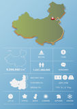 People Republic of China map and travel Infographic template design. Stock Images