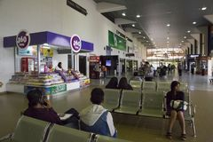 People in waiting lounge, Viru-Viru Airport, Bolivia Royalty Free Stock Image