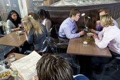 People in a restaurant Stock Image