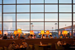 People in restaurant at airport Royalty Free Stock Images