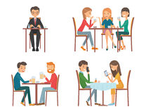 People in restaurant Royalty Free Stock Images