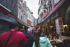 People and Restaurants Stock Image