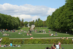 People resting. In park Stock Photos