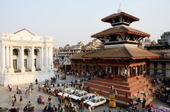 People resting at Durbar Square,Kathmandu,Nepal royalty free stock photo