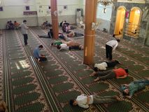 Free People Resting Inside A Muslim Mosque  Stock Photos - 32241463