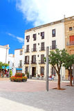 People are resting on square of Spain in Tossa de Mar Stock Photography