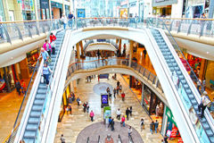 People at retail shopping mall royalty free stock images