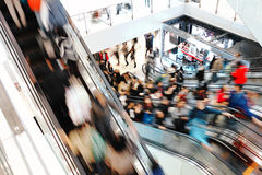 People at retail shopping mall Royalty Free Stock Photo