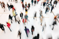 People at retail shopping mall stock image
