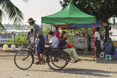 People in rickshaw Royalty Free Stock Photos