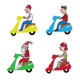 People ridding scooter 1 Royalty Free Stock Photo