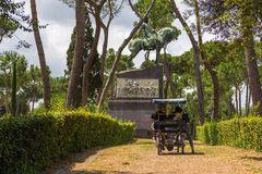 People on a ride  in the Borghese Royalty Free Stock Photography