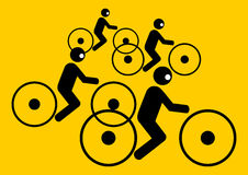 People riding bicycles Royalty Free Stock Photo