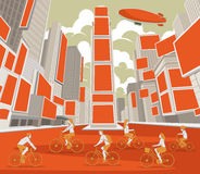 People riding bicycles Stock Photos