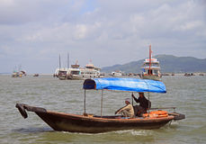 People are riding in boat Royalty Free Stock Photo