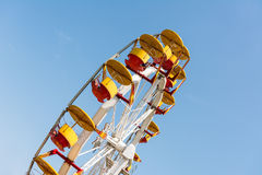People Riding Giant Ferris Wheel Royalty Free Stock Image