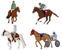People riding horses illustration Royalty Free Stock Images