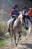 People riding horses, Marbella, Spain. Royalty Free Stock Photos