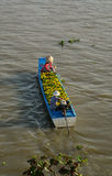 People riding the motorboat on the river in An Giang, Vietnam Royalty Free Stock Image