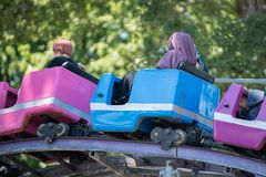Kinds of the roller coaster, Portland royalty free stock photos