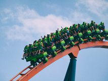 People Riding Roller Coaster during Daytime Stock Photography